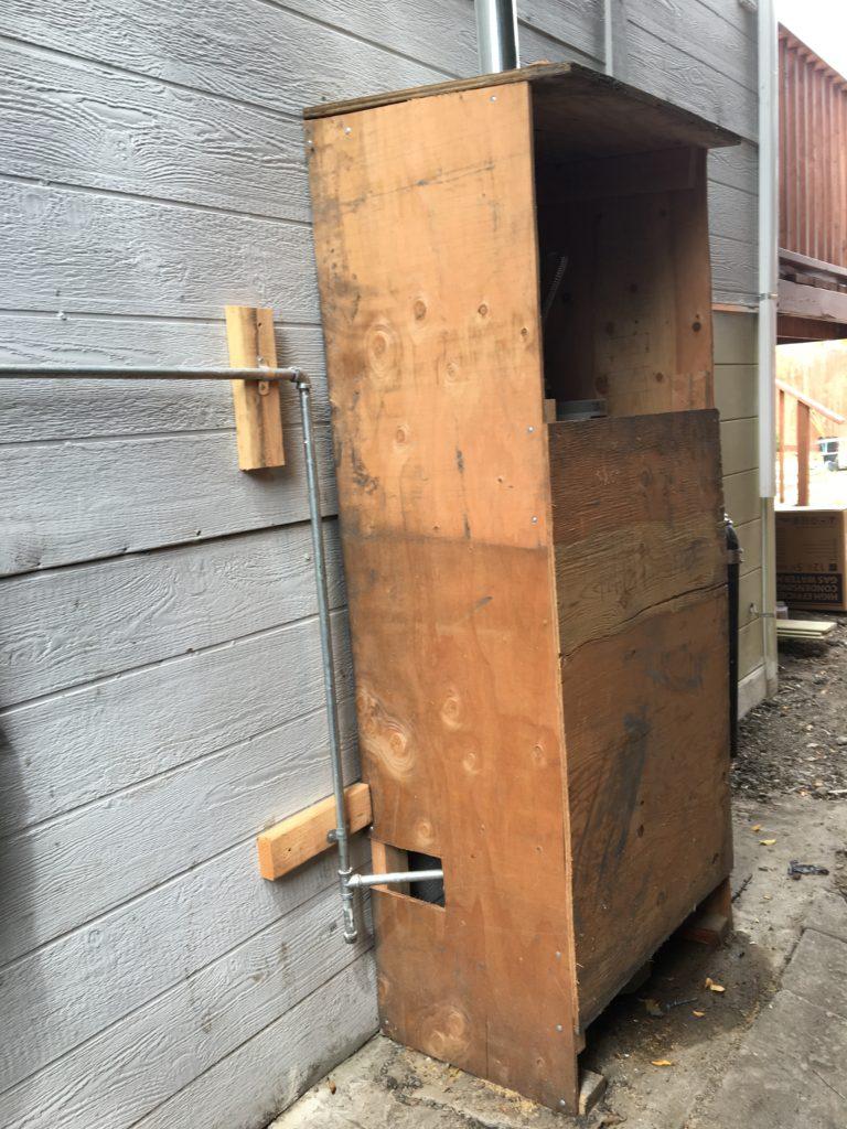 Storage tank water heater, outdoors and leaking in Berkeley
