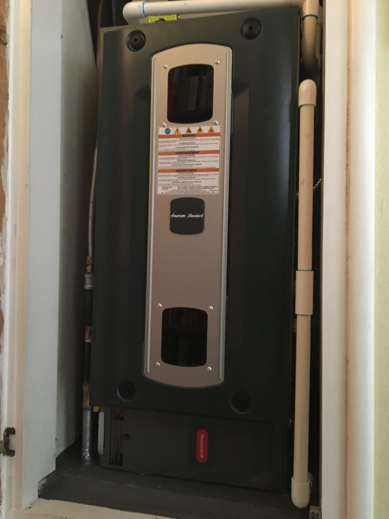 New American Standard S9- Series furnace with electronic air cleaner, keeping Concord comfy AND healthy